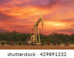 well head with beam pump or... | Shutterstock . vector #429891232
