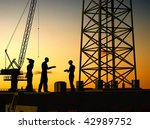 group of the workers on a... | Shutterstock . vector #42989752