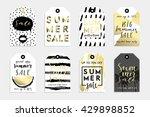 summer hand drawn calligraphyc... | Shutterstock .eps vector #429898852