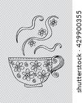 coffee cup doodle | Shutterstock .eps vector #429900355