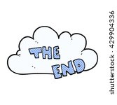 freehand drawn cartoon the end... | Shutterstock .eps vector #429904336