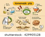 recipe for homemade pita. step... | Shutterstock .eps vector #429905128