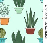 seamless pattern with plants.... | Shutterstock .eps vector #429910075