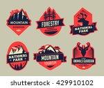 vector set of wilderness and... | Shutterstock .eps vector #429910102