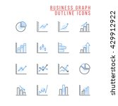 business graph outline icons | Shutterstock .eps vector #429912922