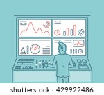 linear vector illustration of... | Shutterstock .eps vector #429922486