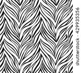 seamless texture of zebra skin. ... | Shutterstock .eps vector #429935356
