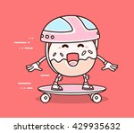 vector illustration of bright... | Shutterstock .eps vector #429935632