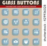 server web icons for user... | Shutterstock .eps vector #429936328