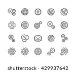 simple set of gear related... | Shutterstock .eps vector #429937642