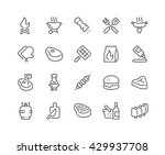 simple set of barbecue related... | Shutterstock .eps vector #429937708
