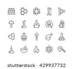 simple set of chemical related... | Shutterstock .eps vector #429937732