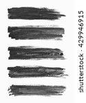 set of abstract black... | Shutterstock . vector #429946915