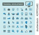 training development icons  | Shutterstock .eps vector #429951682