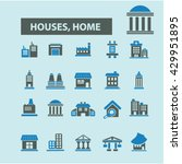 houses  home icons  | Shutterstock .eps vector #429951895