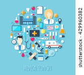 medical vector icon set. flat... | Shutterstock .eps vector #429960382