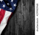 flag of the usa on wooden... | Shutterstock . vector #429983968