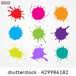 colorful paint splatters.paint... | Shutterstock .eps vector #429986182
