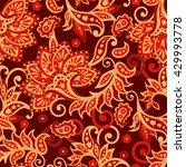 ethnic floral seamless pattern...   Shutterstock .eps vector #429993778