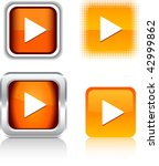 play  square buttons. vector... | Shutterstock .eps vector #42999862