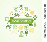 ecology environment concept... | Shutterstock .eps vector #430002118