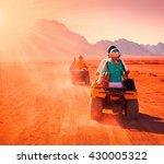 motorcycle safari in the land... | Shutterstock . vector #430005322