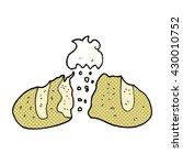 freehand drawn cartoon loaf of... | Shutterstock .eps vector #430010752