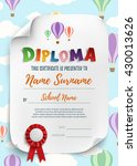 diploma template for kids ... | Shutterstock .eps vector #430013626