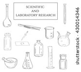 scientific and laboratory... | Shutterstock .eps vector #430014346
