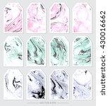 vector. set of marble textures... | Shutterstock .eps vector #430016662