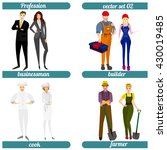 set of different professions.... | Shutterstock .eps vector #430019485