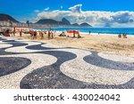 copacabana with mosaic of...   Shutterstock . vector #430024042