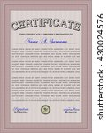 diploma or certificate template.... | Shutterstock .eps vector #430024576
