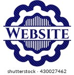 website emblem with jean... | Shutterstock .eps vector #430027462
