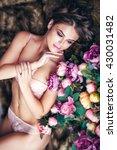 fashion portrait of beautiful...   Shutterstock . vector #430031482