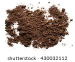 pile dirt isolated on white... | Shutterstock . vector #430032112