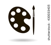 black brush and palette icon | Shutterstock .eps vector #430033405