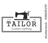 tailor shop label | Shutterstock .eps vector #430039195
