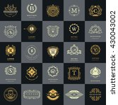 vintage logos design templates... | Shutterstock .eps vector #430043002