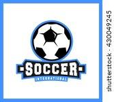 soccer badge logo template... | Shutterstock .eps vector #430049245