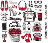 big vector fashion illustration ... | Shutterstock .eps vector #430051585