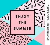 summer hipster boho chic... | Shutterstock .eps vector #430053352