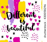 different is beautiful card.... | Shutterstock .eps vector #430058296
