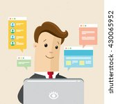 manager or employee is working... | Shutterstock .eps vector #430065952