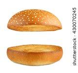 burger bun empty isolated.... | Shutterstock . vector #430070245