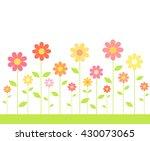 flowers growing on meadow....   Shutterstock .eps vector #430073065