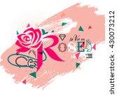rose  lettering | Shutterstock .eps vector #430073212