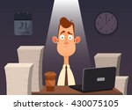 funny cartoon character. tired... | Shutterstock .eps vector #430075105