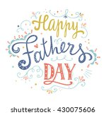 happy fathers day design. hand... | Shutterstock .eps vector #430075606