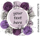 colorful flowers background... | Shutterstock .eps vector #430076578